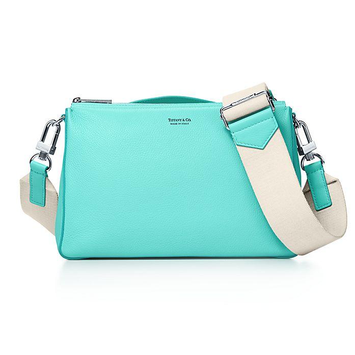 020d17ff70 Crossbody bag in Tiffany Blue® grain calfskin leather. | Tiffany & Co.