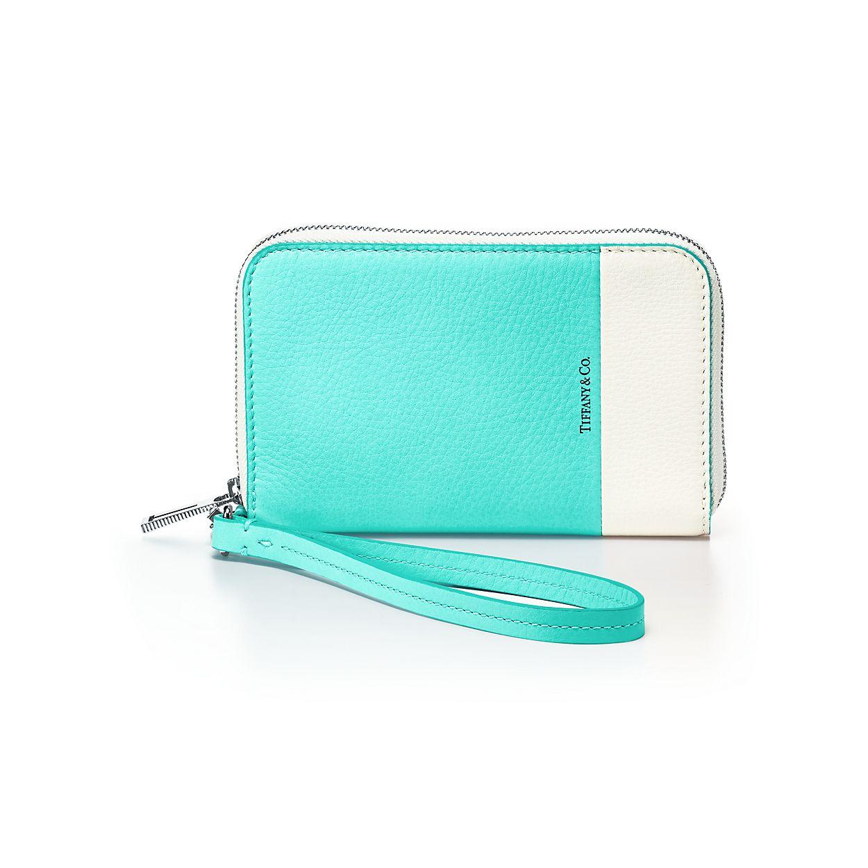 Clé Bijou De Sac En Cuir Vachette Fleur Bleu Tiffany & Co. bON79hDk
