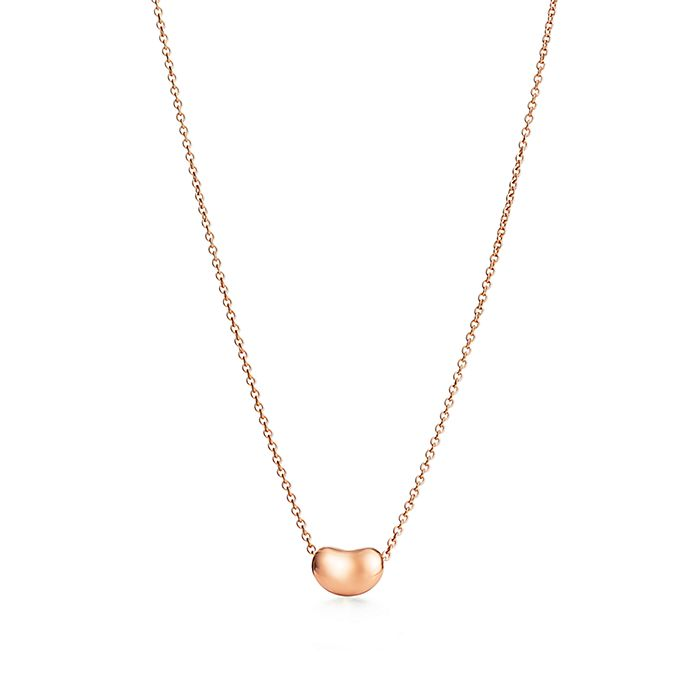 6d2a9f91d Elsa Peretti Bean Design Pendant In 18k Rose Gold Tiffany Co