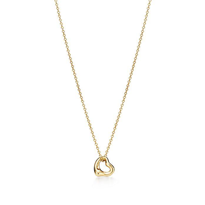 aa08946b2 Elsa Peretti® Open Heart pendant in 18k gold. | Tiffany & Co.