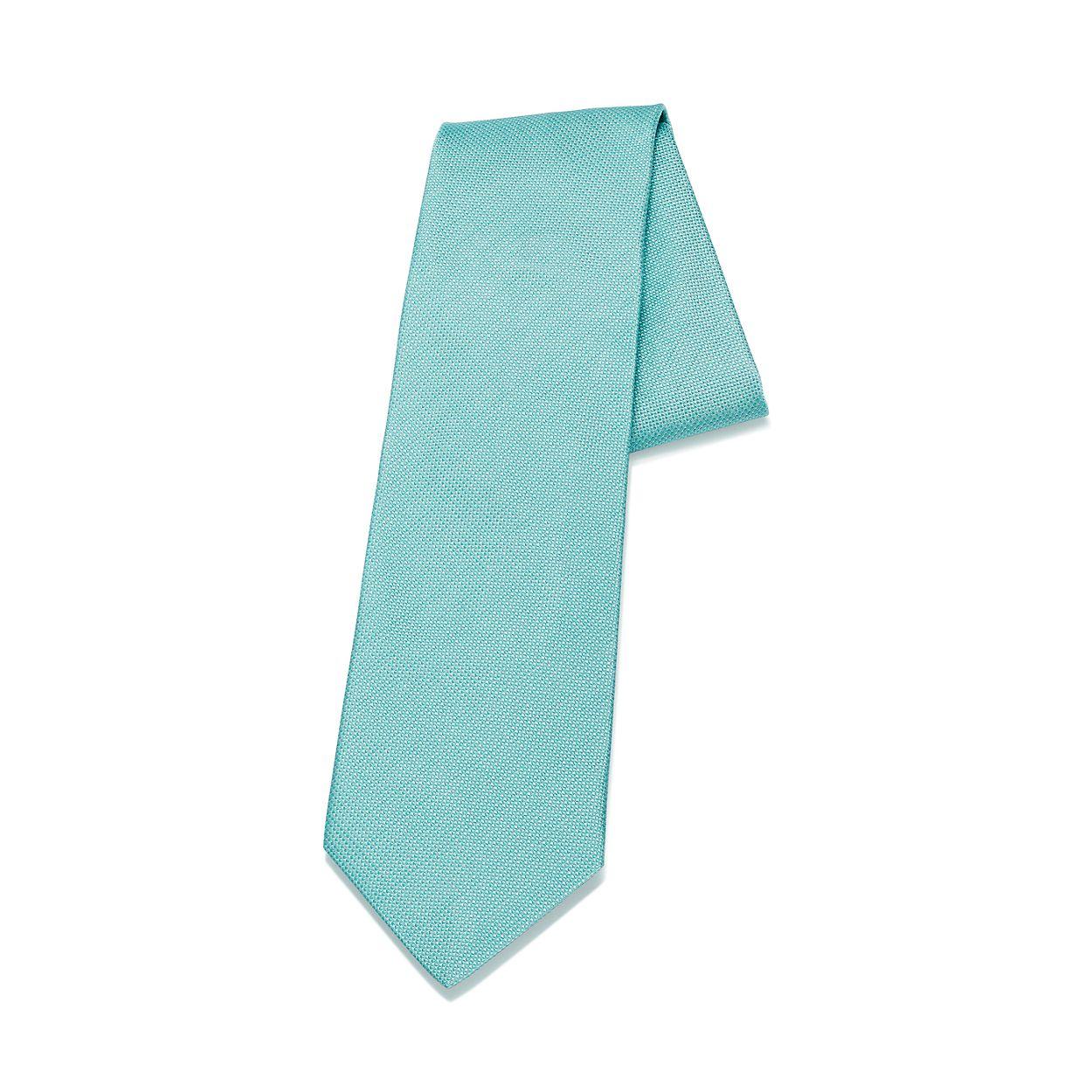 Diamond Point Tie In Tiffany Blue Silk Tiffany Co