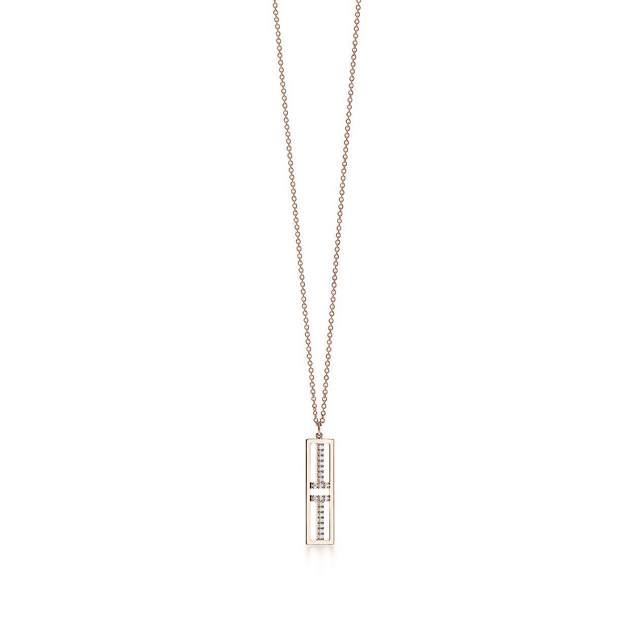 Tiffany T Deux Barres Verticales Ouvert Pendentif En Or Blanc 18 Carats Avec Diamants Tiffany & Co. ULbhgRJn