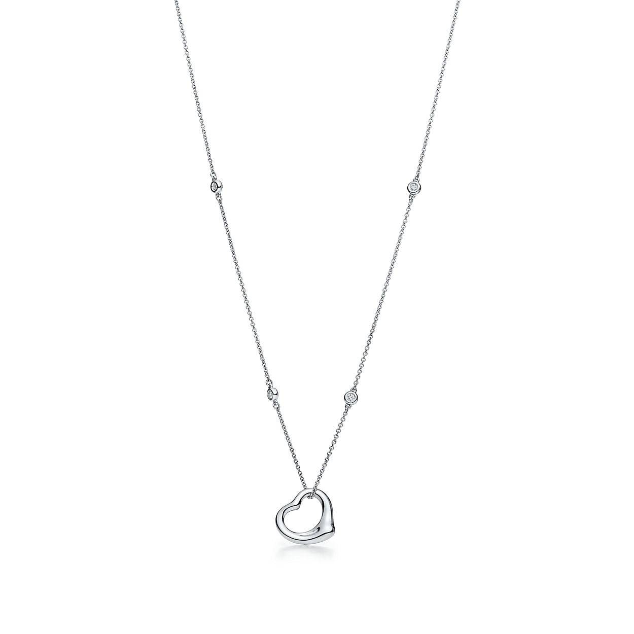 Elsa peretti diamonds by the yard open heart pendant in sterling elsa perettidiamonds by the yardbropen heart pendant aloadofball