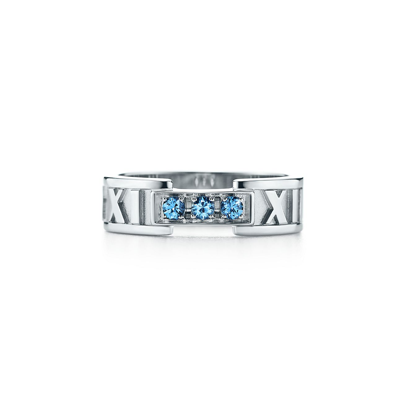 Tiffany 1837 narrow ring in 18k white gold with diamonds - Size 11 1/2 Tiffany & Co.
