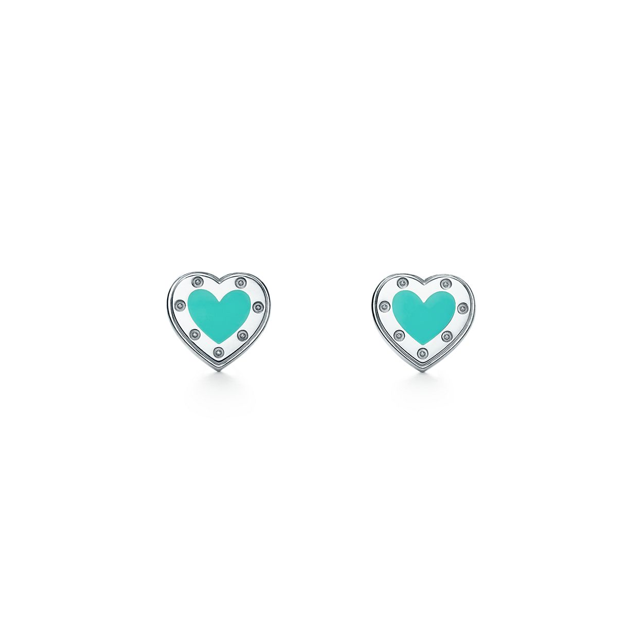 tiny stud of copy post sterling infinity silver heart earrings