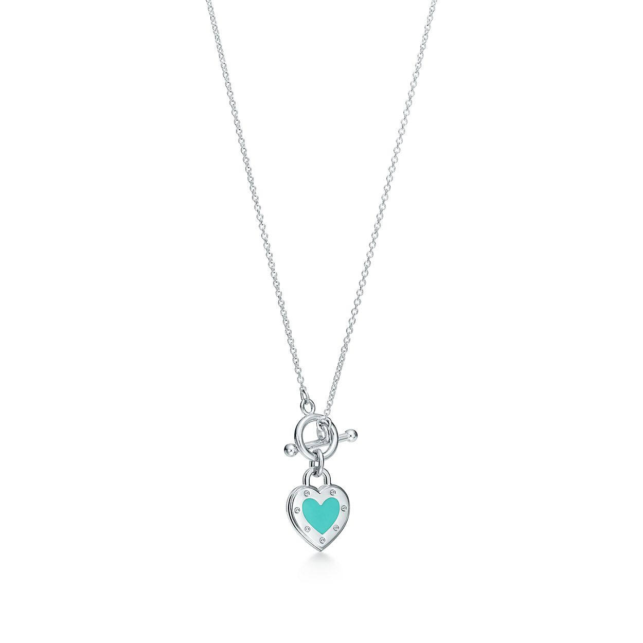 Return to tiffany love heart toggle pendant in silver with enamel return to tiffanylove heart togglebrpendant aloadofball