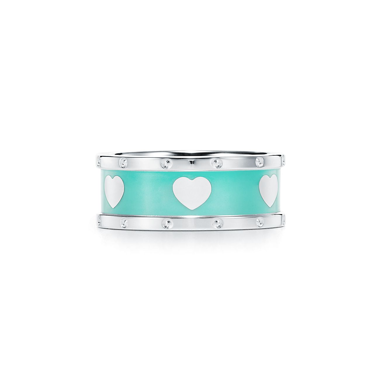 Return To Tiffany Love Narrow Heart Ring In Sterling Silver With