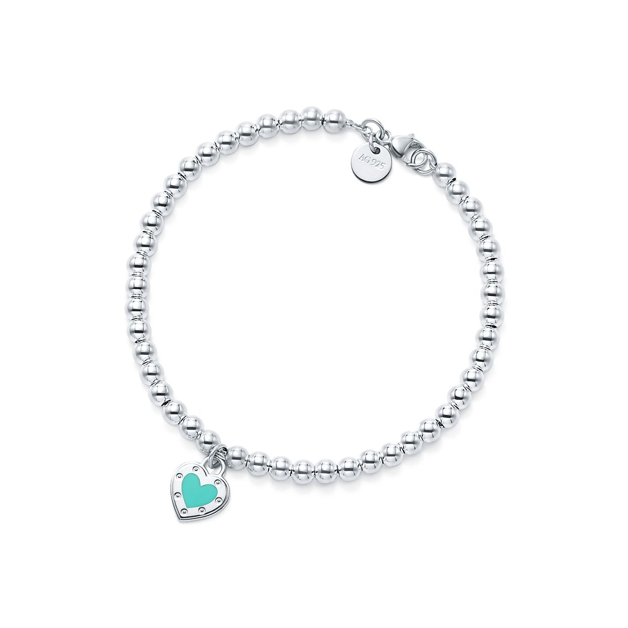 Return To Tiffany Love Heart Tag Br Bead Bracelet
