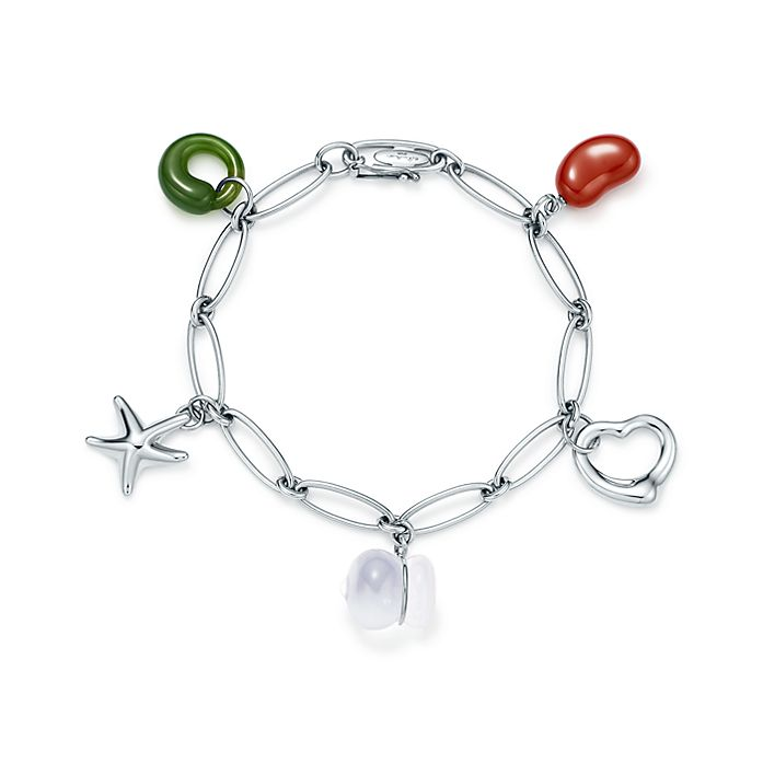 22fb09fa7a32f Elsa Peretti® five-charm bracelet in sterling silver.   Tiffany & Co.