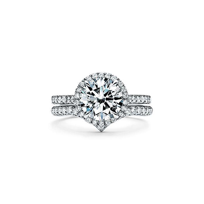 5f5537d6e Tiffany Soleste Round Brilliant Engagement Ring in Platinum