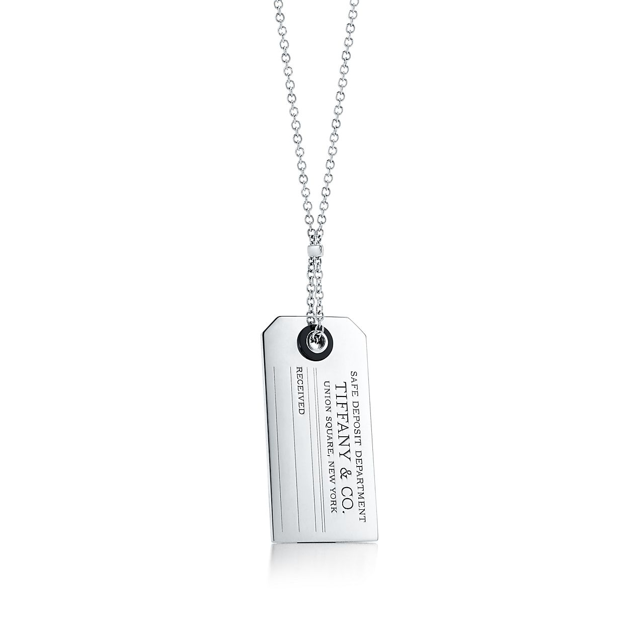 Tiffany charms price tag pendant in sterling silver with black onyx tiffany charmsprice tag pendant aloadofball Gallery