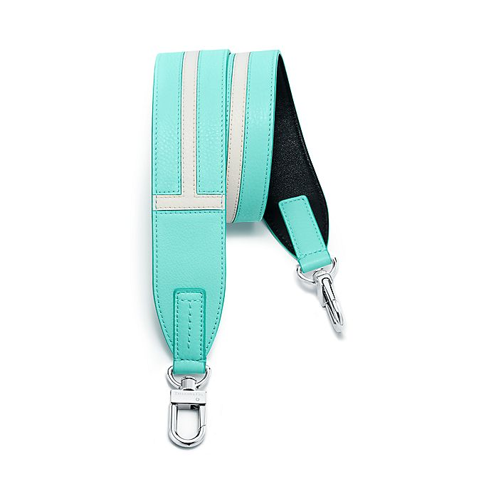 e68def61bc9 Tiffany T tote strap in Tiffany Blue® grain calfskin leather ...