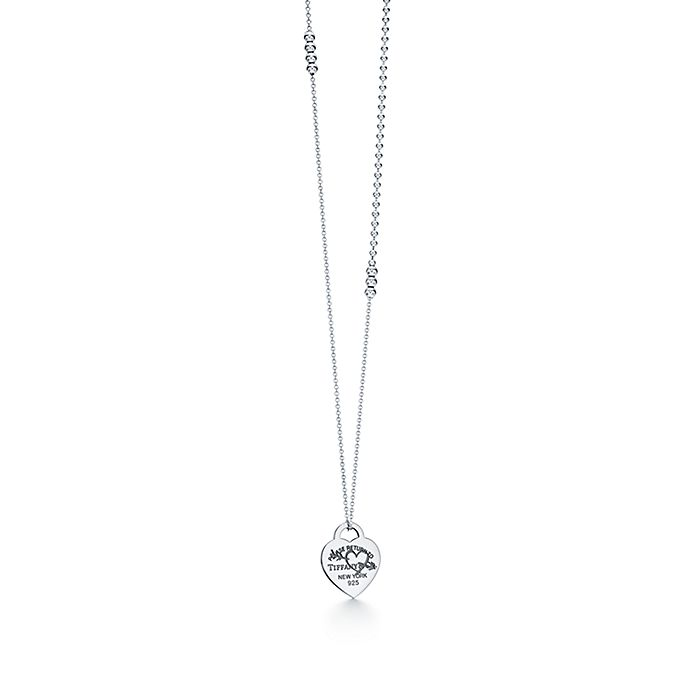 e021d391b Return to Tiffany™ Etched heart and arrow pendant in sterling silver ...