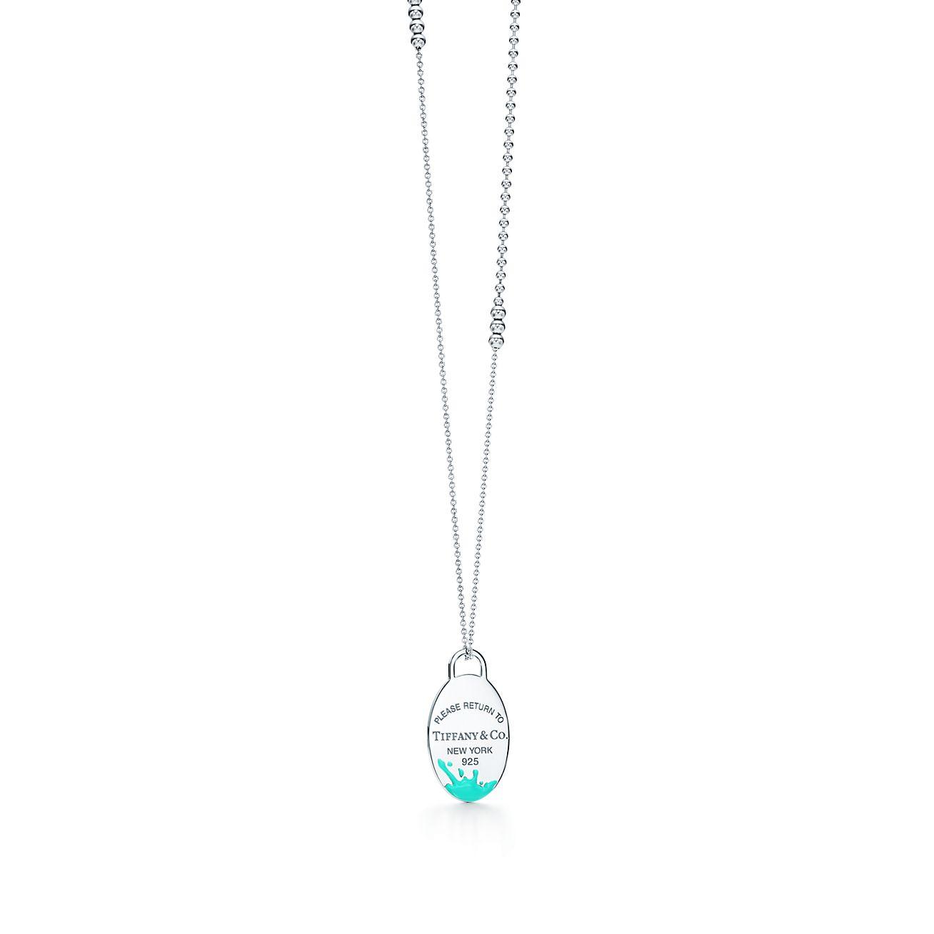 Return To Tiffany Color Splash Pendant In Sterling Silver Large