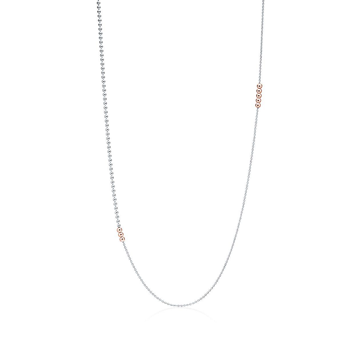Chaîne De Perles Mixte En Argent Et Or Rose 18 Carats Tiffany & Co. ZGVFWFjAHn