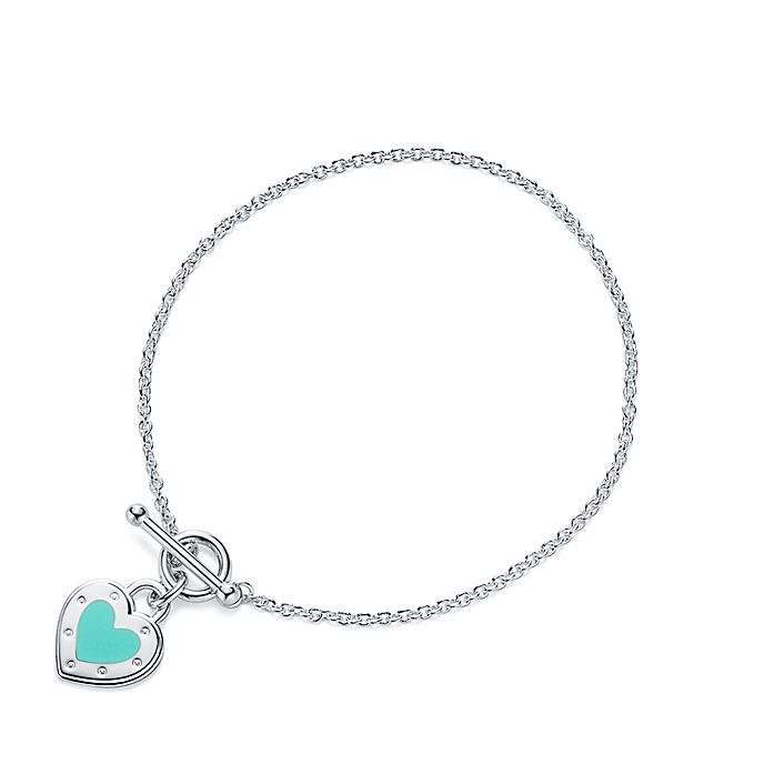 0c8f2e0bc Return to Tiffany™ Love heart toggle bracelet in silver with enamel ...