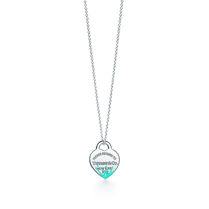 09b26a18df Return to Tiffany® Color Splash heart tag charm in sterling silver ...