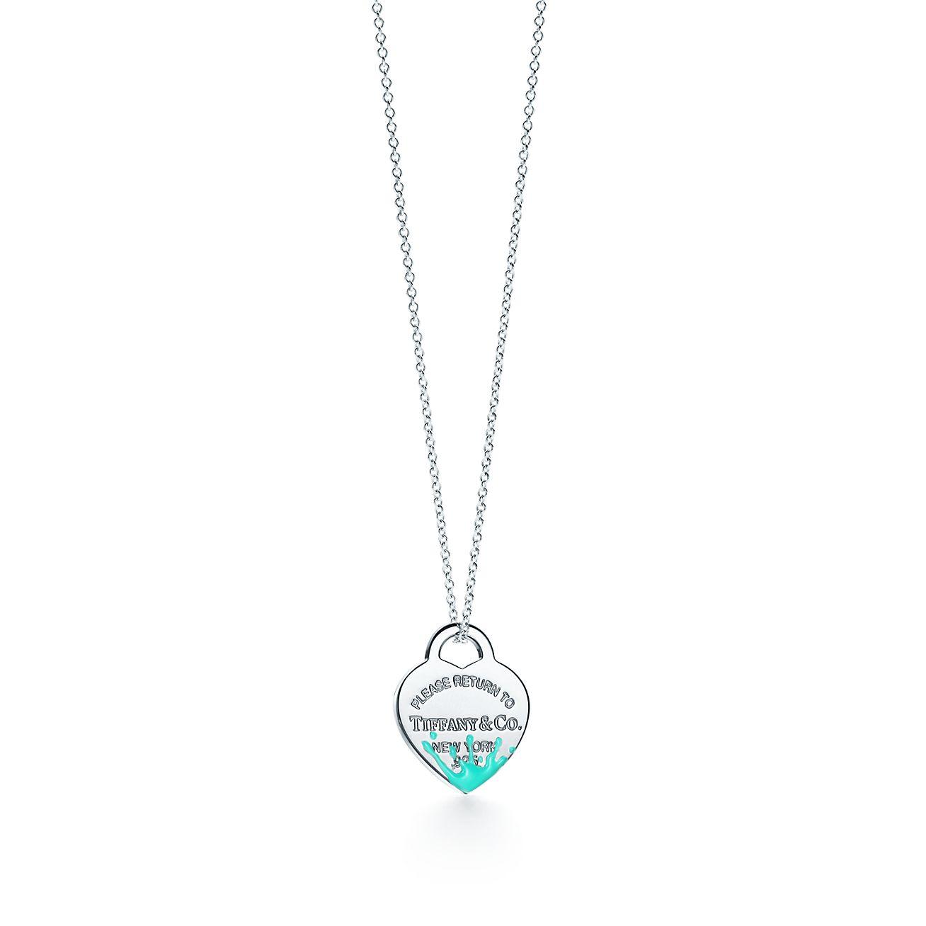 Return to Tiffany Color Splash oval tag charm in sterling silver - Size Tiffany Blue Color Splash Tiffany & Co.