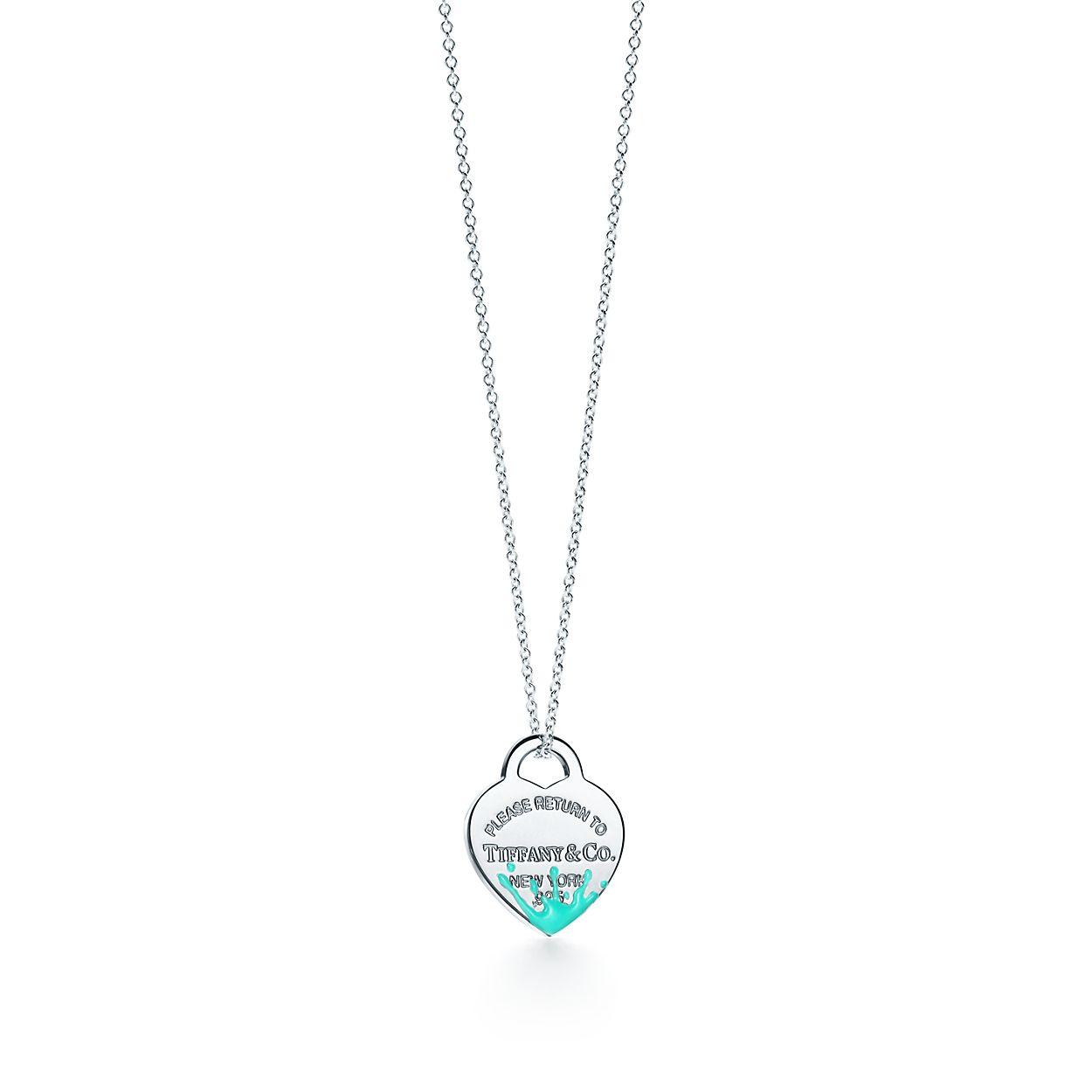 Return to Tiffany Color Splash oval tag charm in sterling silver - Size Tiffany Blue Color Splash Tiffany & Co. IAkvXif