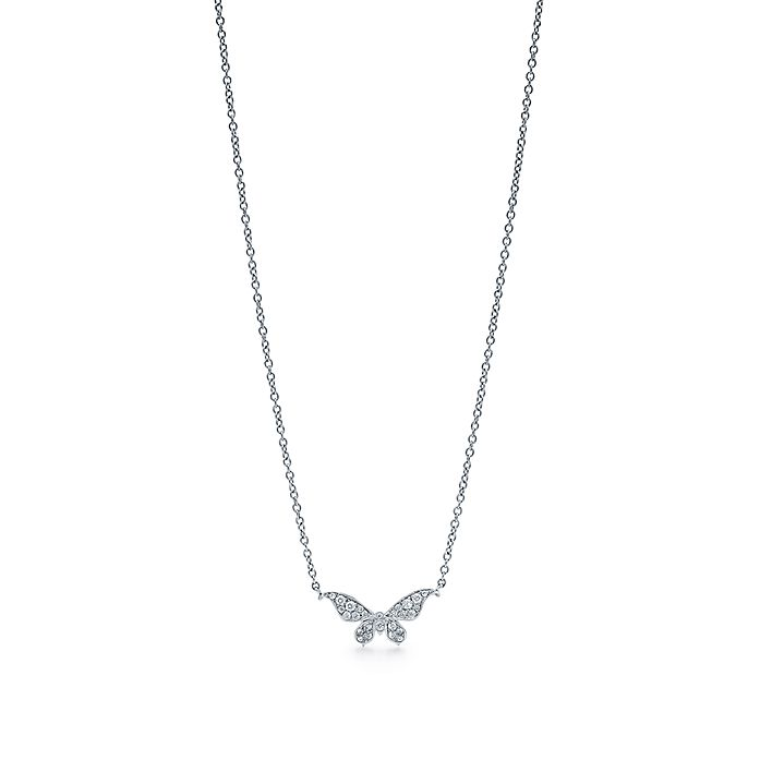 7f92b5642 Tiffany Enchant™ butterfly pendant in platinum with diamonds ...
