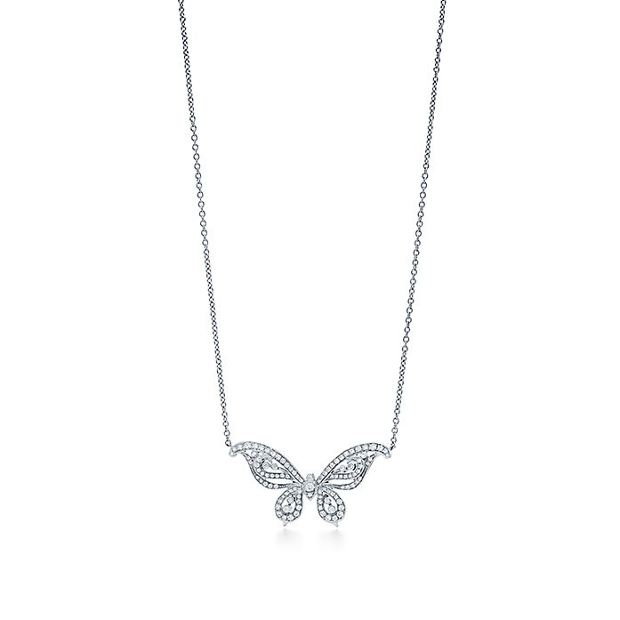 c90c0e6ec Tiffany Enchant® butterfly pendant in platinum with diamonds ...