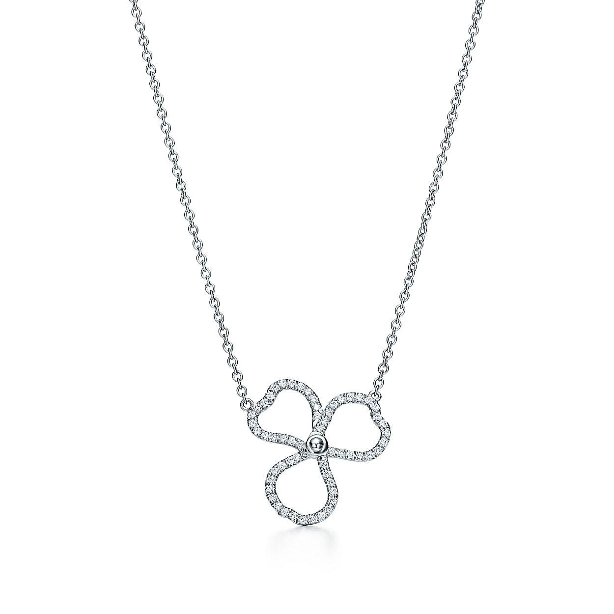Tiffany paper flowers diamond open flower pendant in platinum tiffany paper flowersdiamond open flower pendant mightylinksfo