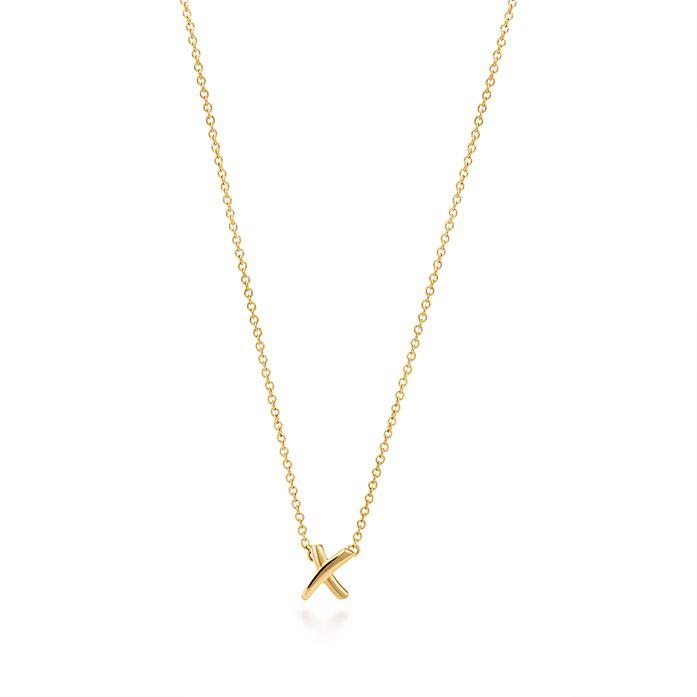 dc7f1fc1a Paloma's Graffiti X pendant in 18k gold, mini. | Tiffany & Co.