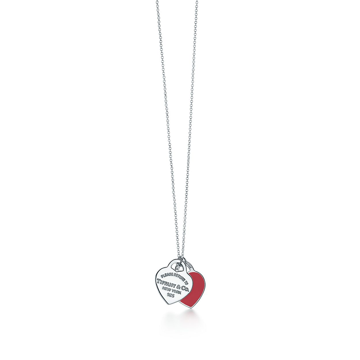 necklace double international pendant sliver sterling home bella heart silver products