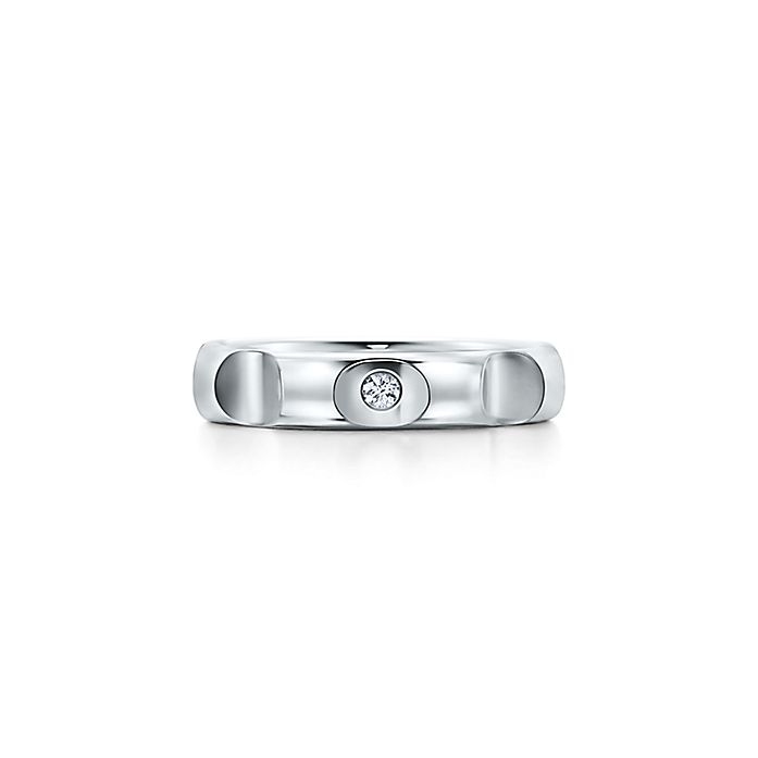 a654cd4de Paloma's Groove™ ring in sterling silver with a diamond, 4 mm wide ...
