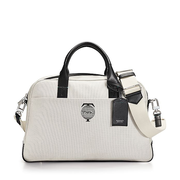 Tiffany Travel flight bag in cotton canvas with black grain leather ... e999ab62a8836