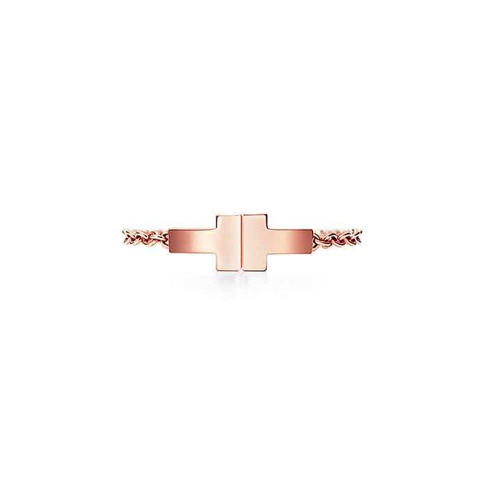 5ffe8ebc4 Tiffany T Two chain ring in 18k rose gold. | Tiffany & Co.