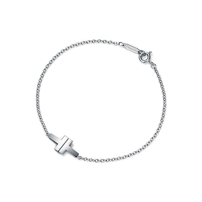 5da00a9bf2a07 Tiffany T Two single chain bracelet in sterling silver, medium ...