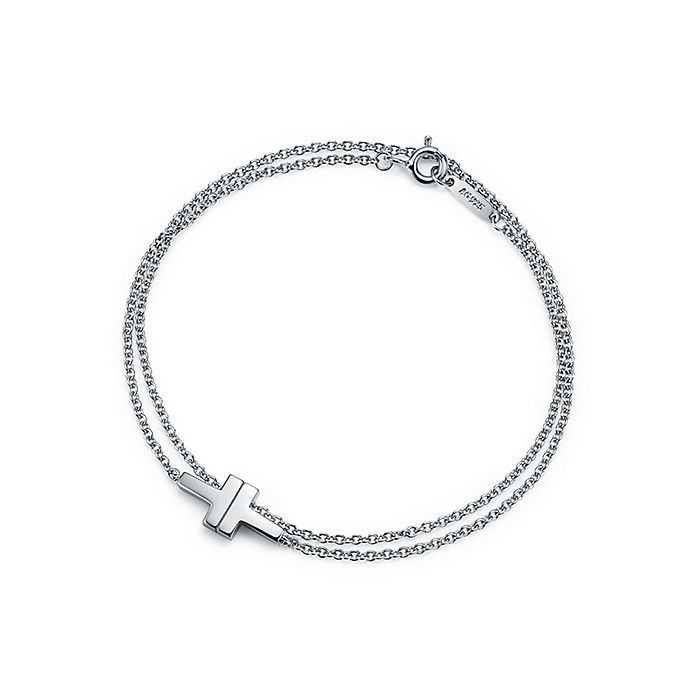 a58a0165ab285 Tiffany T Two double chain bracelet in sterling silver, medium ...