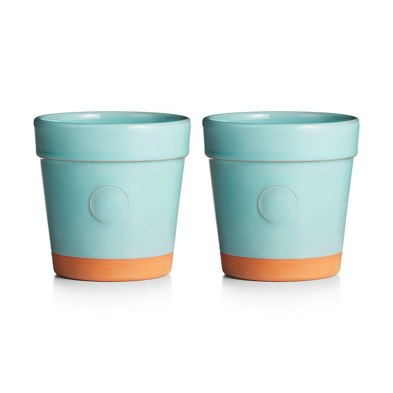 Everyday objects terra cotta flowerpots set of two tiffany co izmirmasajfo