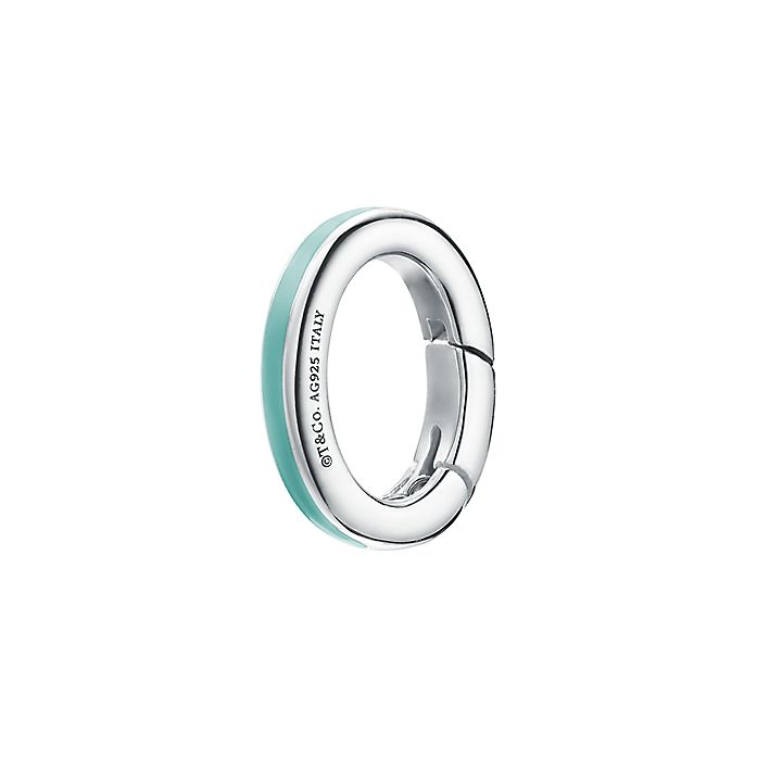 20d3936cd Clasping link in sterling silver with Tiffany Blue® enamel finish. | Tiffany  & Co.