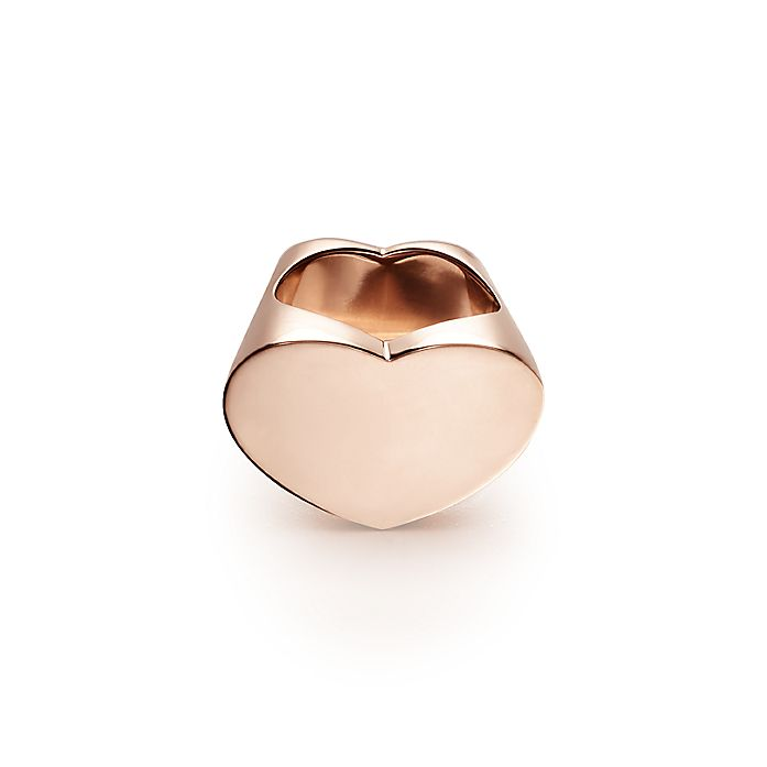b1595fb82e7f5 Paloma Picasso® Double Modern Heart ring in 18k rose gold. | Tiffany ...