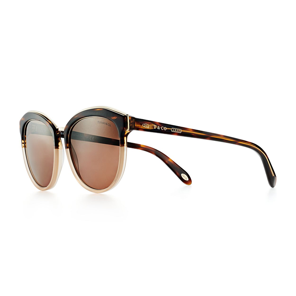 579b72cb1a6 Tiffany 1837™ round sunglasses in tortoise and camel acetate ...
