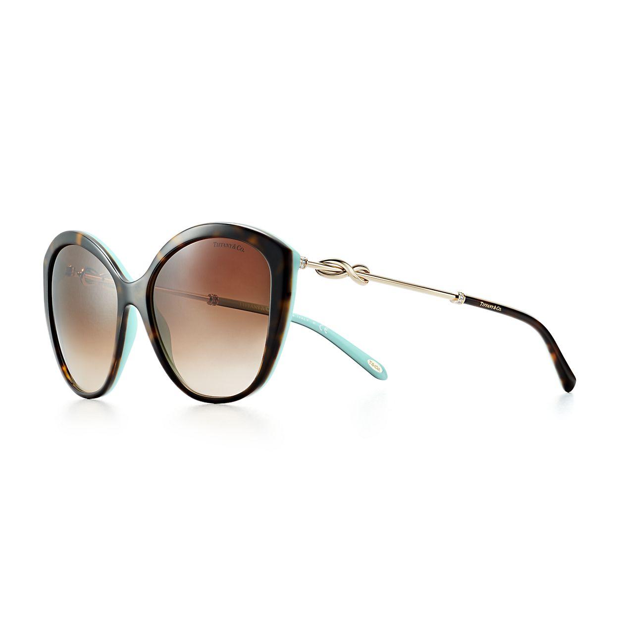 Gafas de sol ojos de gato Tiffany Infinity en carey y acetato ...