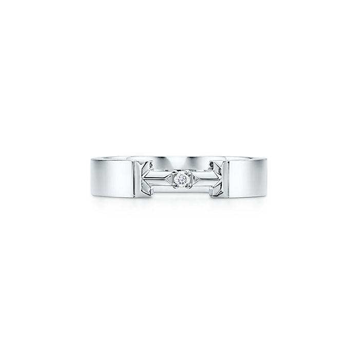 e19845333022 Tiffany T Anillo True de eslabones de diamantes ...