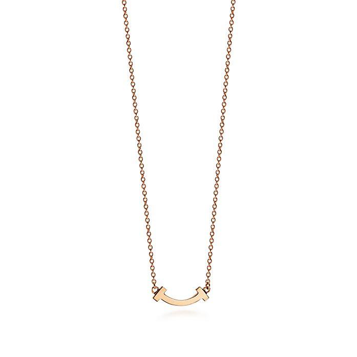 2c1064df5 Tiffany T smile pendant in 18ct rose gold, micro. | Tiffany & Co.