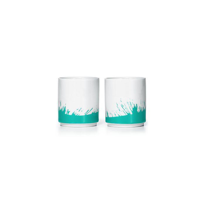 45e02642c21 Tiffany colour Splash sake cups in porcelain
