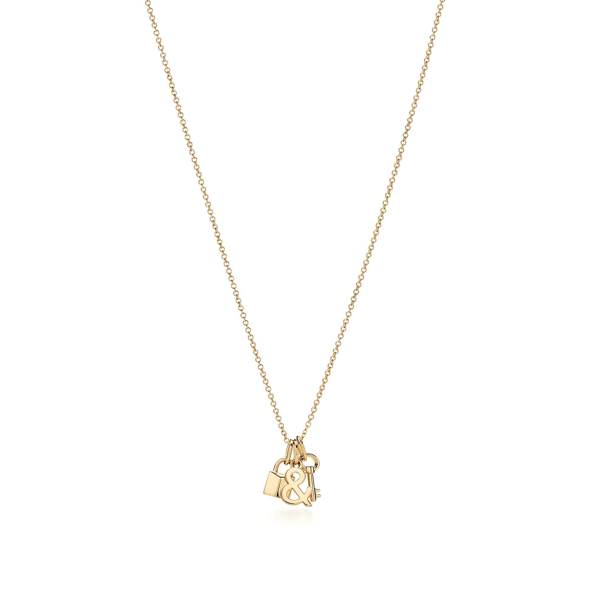 Tiffany & Love        Lock And Key Pendant In 18k Gold by Tiffany & Love