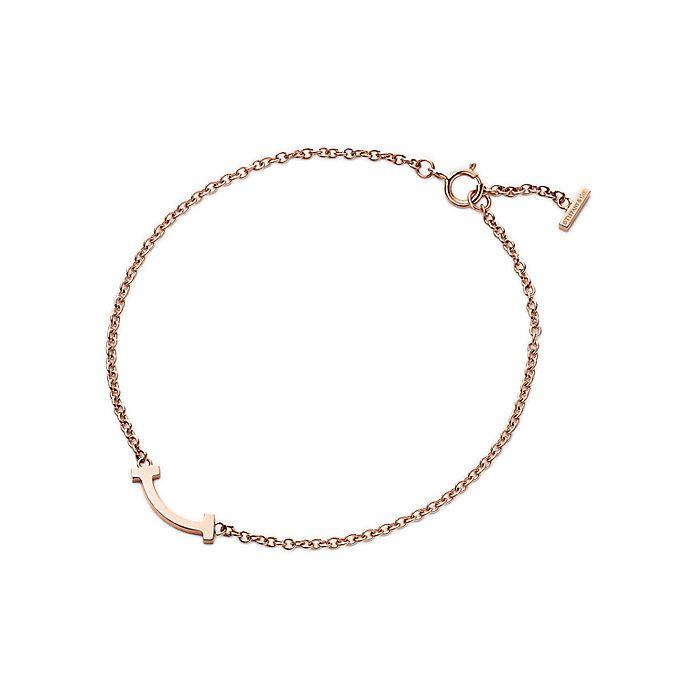 9582c5af4 Tiffany T smile bracelet in 18k rose gold, micro. | Tiffany & Co.