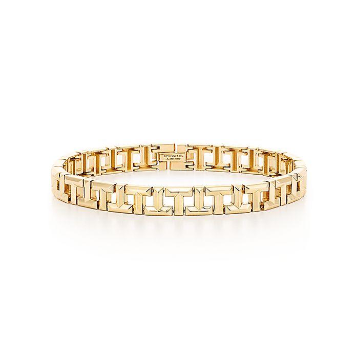 103351111 Tiffany T True narrow bracelet in 18k gold, medium. | Tiffany & Co.