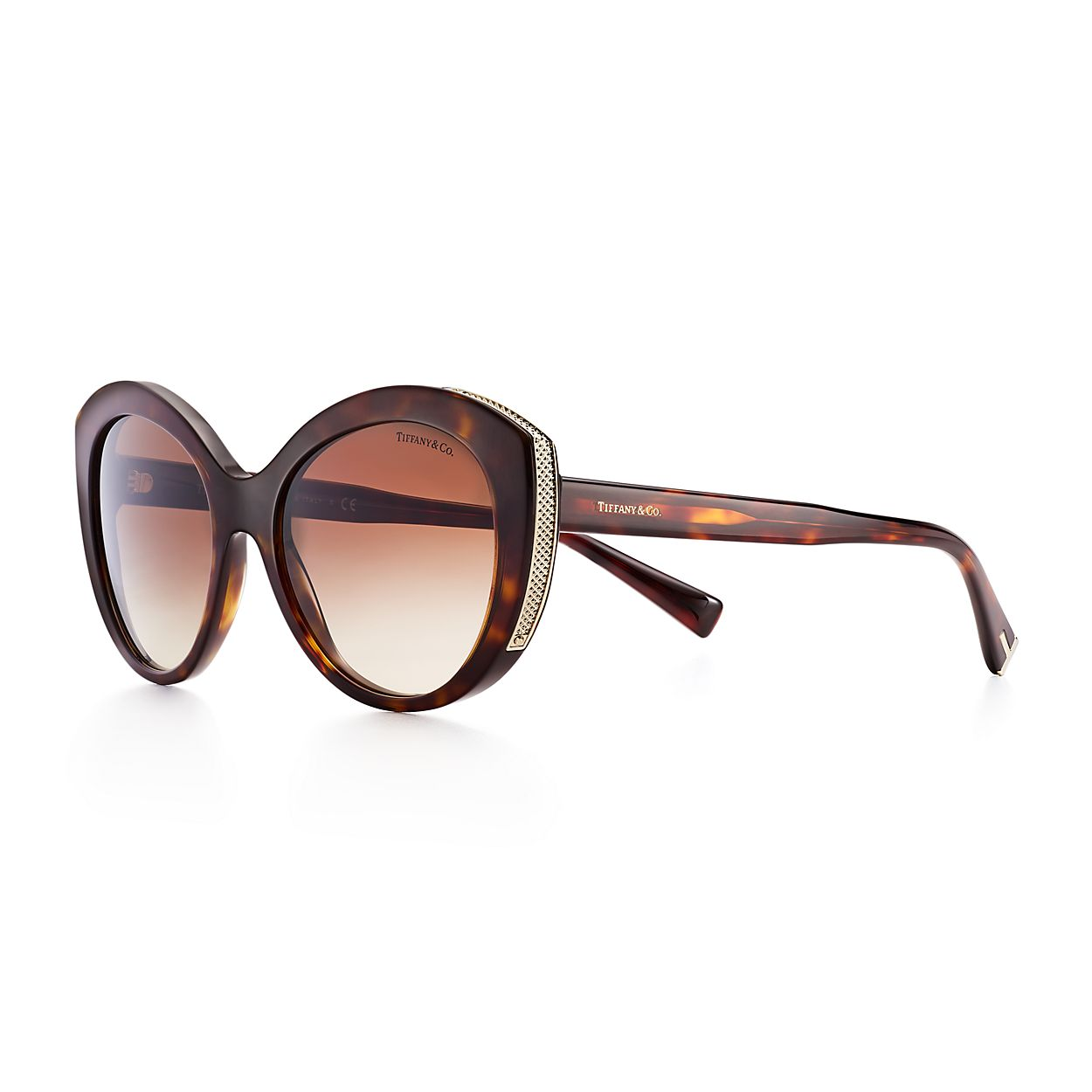 e5ba1a9ff5634 Diamond Point cat eye sunglasses in tortoise acetate and gold ...
