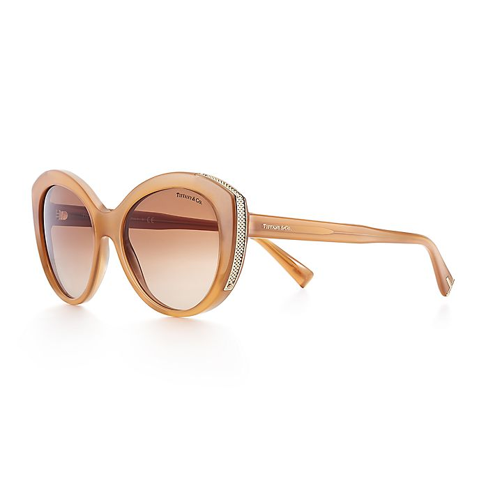b1193a3d5aedb Diamond Point cat eye sunglasses in camel acetate and pale gold ...