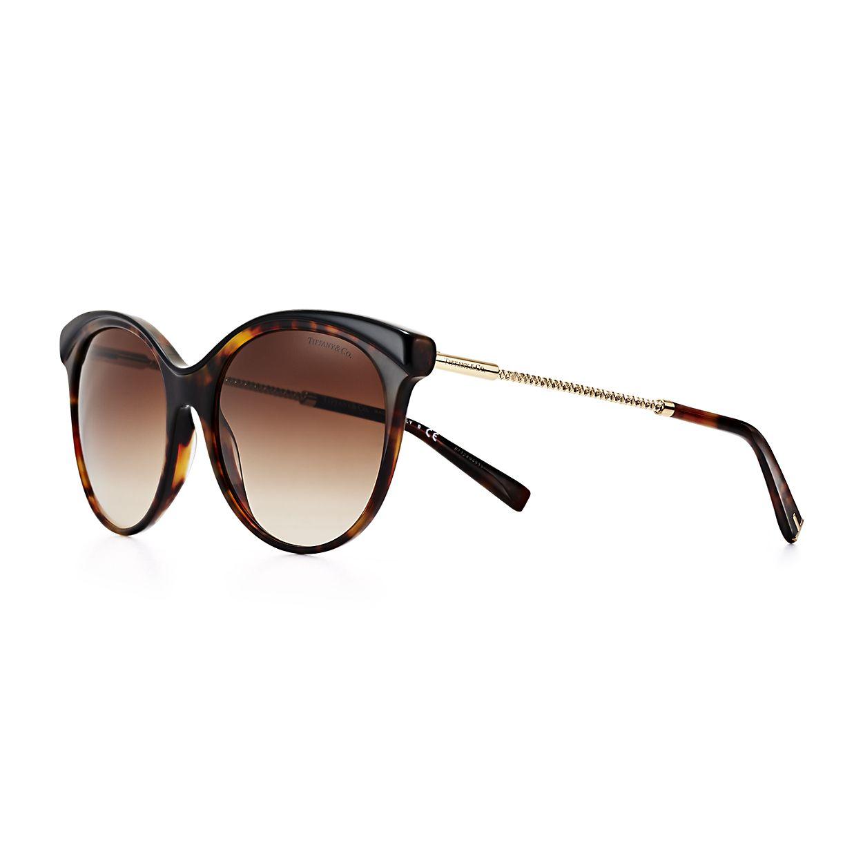 Óculos de sol estilo borboleta Diamond Point em acetato tartaruga e ... 4df71d4ca2