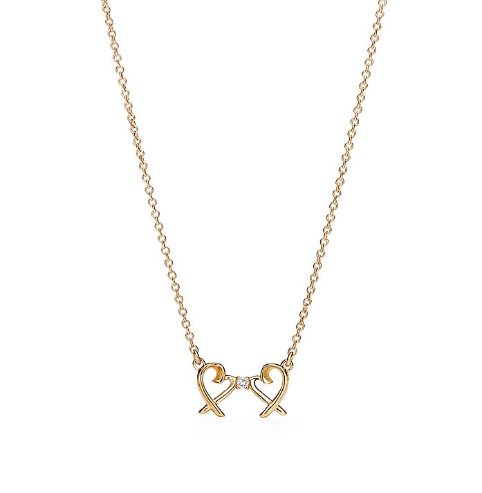 57d73dedd Paloma Picasso® Double Loving Heart pendant in 18k gold with ...