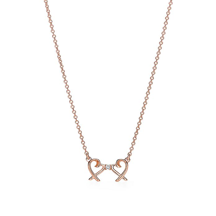8d795886a Paloma Picasso® Double Loving Heart pendant in 18k rose gold with ...