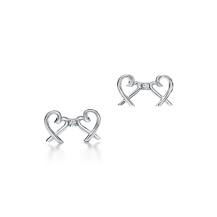 04b709d87 Paloma Picasso® Double Loving Heart earrings in sterling silver with ...